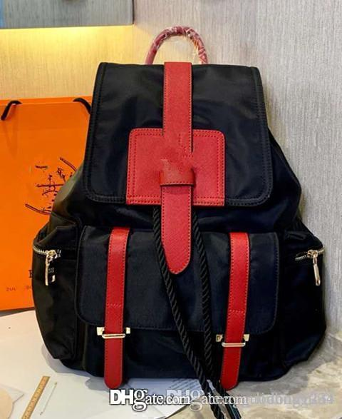 Ms. Bolso de bandolera nuevo bolso de cuero de grano de litchi recreativo edición de han con cremallera bolsa de hombro mochila portátil