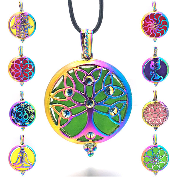 top popular Colorful Angel Ball 015 Aroma Diffuser Necklace Open Antique Vintage Pendant Perfume Essential Oil Diffuser Locket Necklace 2021