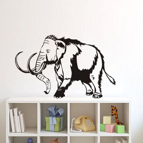 Mammoth Elephant Wall Stickers Home Decor Living Room Wild Animals For Home Sofa Background Kids Room Vinyl Wall Sticker