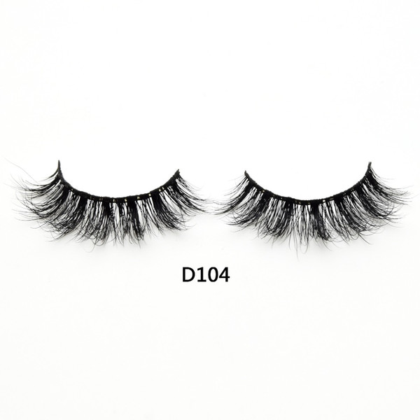 3D Real Mink Lashes Fur False Eyelashes Strip Thick Fake Faux Eye Lashes Makeup Beauty 100% Handmade Glitter Packing with Free Logo D104