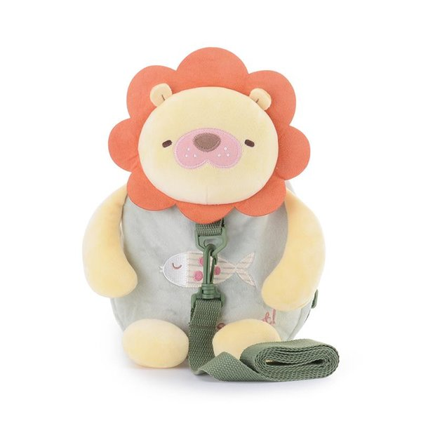 top popular Metoo Cute Cartoon Lion Baby Harness Backpack Baby Leashes Safety Anti-lost Backpack Strap Walker Bag 26*25cm 2020