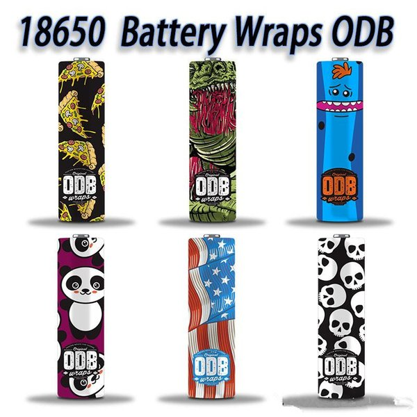 Nouvelle arrivée 18650 ODB Batterie de bande dessinée PVC Autocollant SuperHero Rétractable Wrap Cover Sleeve Heat Shrink Remballer pour Batteries Wrapper