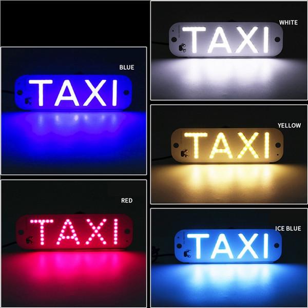Такси крыши знак свет vehical внутри ветрового стекла лампы 12V авто светодиодные 5 цветов