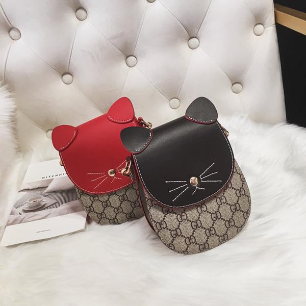 Kids Designer Handbags 2019 Korean Girls Mini Princess Pruses Fashion Children Classic Printed Cartoon Cat Coin Bags B11