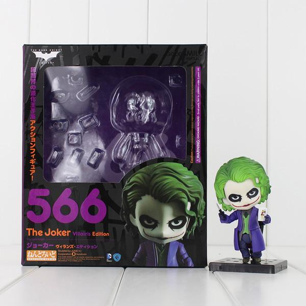 Nendoroid Batman The Dark Knight Joker Figura pintada Edición de villano 566 Joker Doll Acción de PVC Figura de colección Modelo de juguete