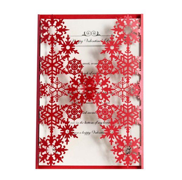 Weiß Rot Laser gefaltete Einladungskarten für Hochzeitseinladungen Geburtstag Engagement Gruß Einladungen Karten Umschläge kostenlos gedruckt