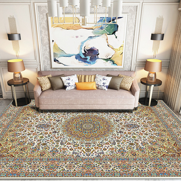 Vintage Persian Style Living Room Rugs And Carpets Big Size American Style  Coffee Table Floor Mat Luxury Modern Home Decoration Braided Rugs Rugs ...