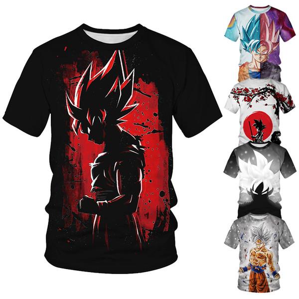 luxe hommes t-shirt de femmes en tête de l'été animés en vrac ras du cou Dragon Ball Z hommes T-shirts imprimés mode unisexe deux manches courtes streetwear