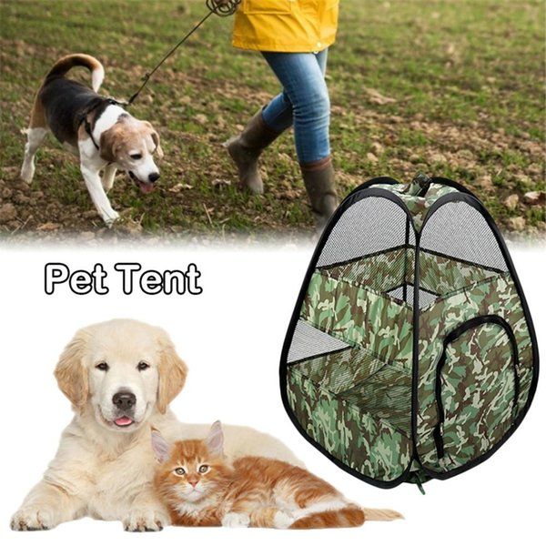 Outdoor Dog Tent Nest Foldable Storage Breathable Mesh Cat Pet Tent One-piece Two-way Zipper Foldable Cat And Dog Universal