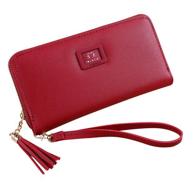 New Fashion Women's Purse Women Wallet Long Passport Female Coin Clutch Card Holder Designer Simple Wallets Female Purses
