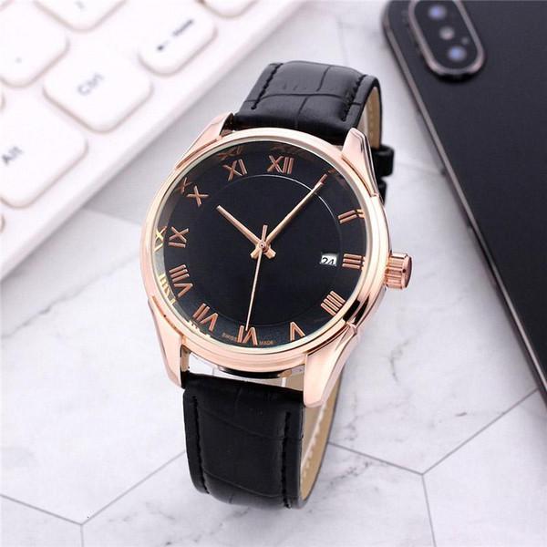 Hot automatische Mensuhr mechanische Bewegung Uhren Durchmesser 40mm Modegeschäft Echtlederband Mehrfarben