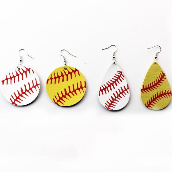 Lignes de baseball impression en cuir marque de mariage fine bijoux designer boucles d'oreilles boucles d'oreilles géométriques cerceau designer boucles d'oreilles femmes