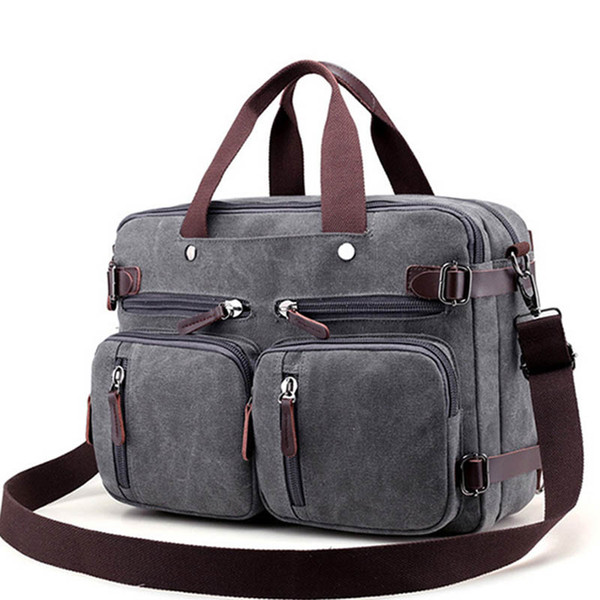 Men Canvas Bag Large Briefcase Travel Suitcase Messenger Shoulder Tote Handbag Big Casual Business Male Laptop Bag