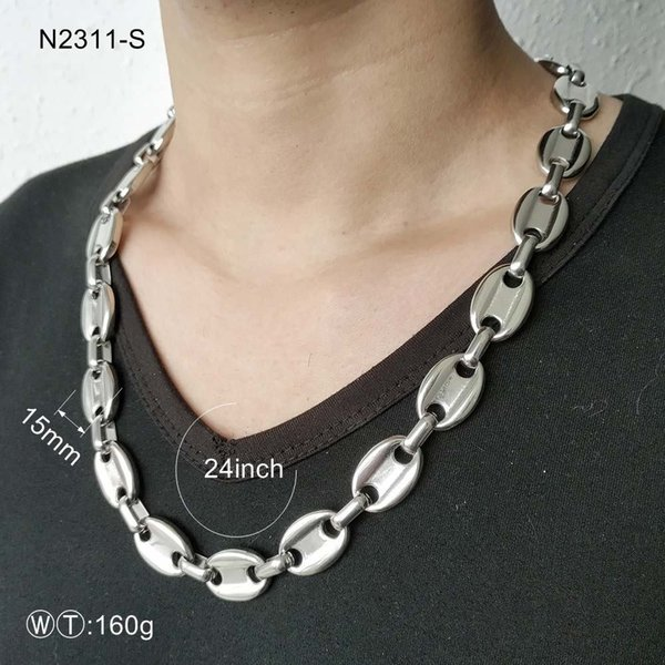 Tl men necklace ilver plated chain necklace tainle teel necklace hip hop jewelry zip can lid hape