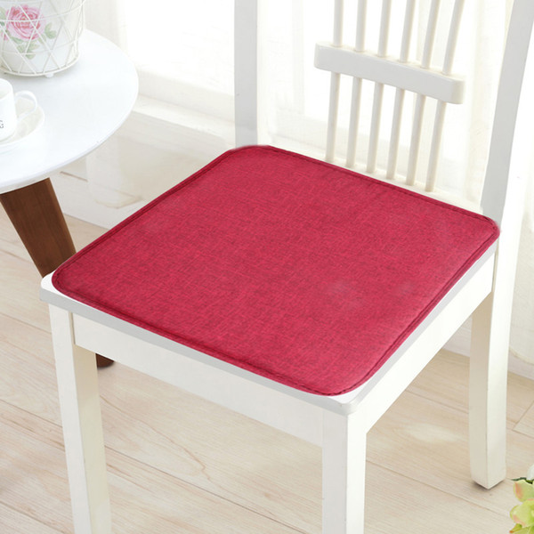 Hot Comfort Non-slip Soft Seat Pad Cover Patio Solid Color Garden Square Indoor Dining Tie On Office Chair Cover New Cushion