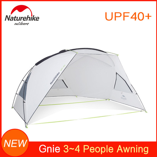 Naturehike Family Beach Shelter Sunshade Camping Awning tent for Parks & Outdoor UV Protection Canopy Sunshade Beach Tarp UPF40+