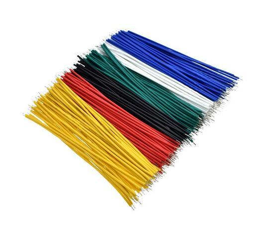 top popular 100pcs Lot Tin-Plated Breadboard Jumper Cable Wire 10cm 24AWG For 2021