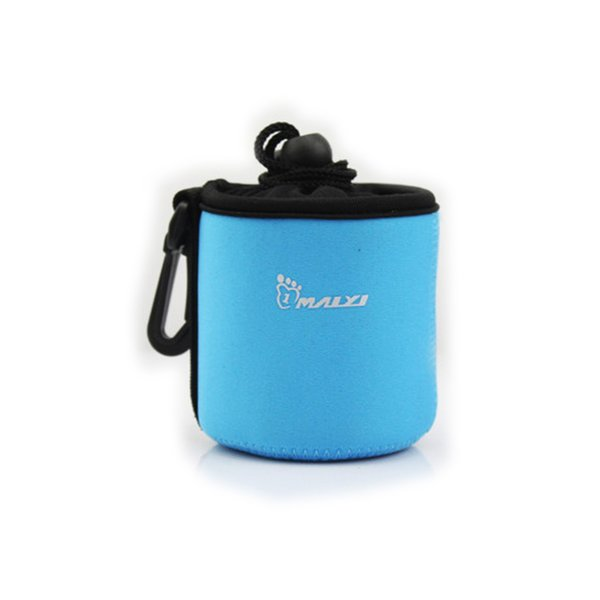 Portable Neoprene Pouch Bag for Canon / Nikon / Pentax Sony Olympus Panasonic DSLR Camera Lens (Blue)