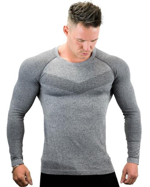 2019 mens chemise à manches longues printemps fitness gym à manches longues en coton tops col rond t-shirt drôle ailes d'impression