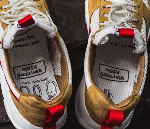 New Released Tom Sachs Craft Mars Yard TS NASA 2.0 Shoe AA2261-100 Natural/Sport Red-Maple Unisex Causal Shoes Size 36-45