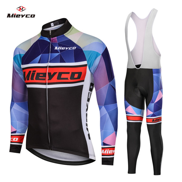 Men Cycling Jersey Bicycle Clothing MTB Bike Long Sleeve Pants Set Sport Wear