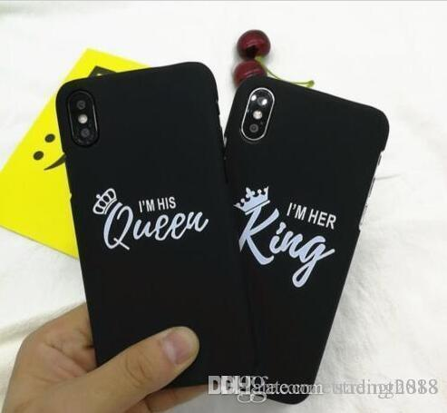 PROMOTION Luxury Silicone Phone Cover Girl Fashion Queen King Crown Soft Case for iphone
