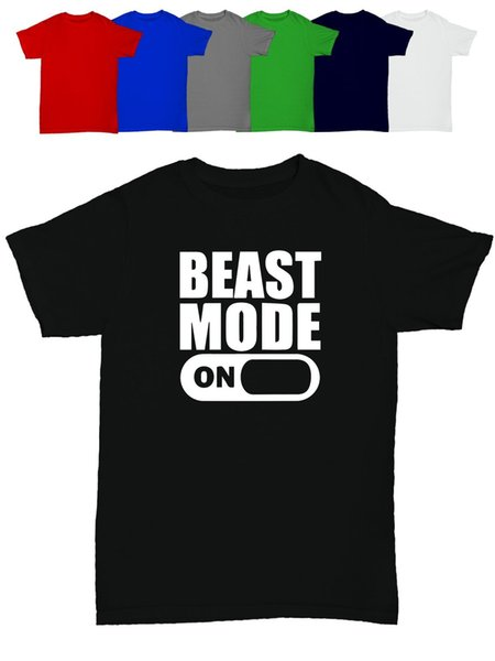 beast mode men's t shirt funny humour birthday gift gym training weightlifting harajuku Summer 2018 tshirt colour jersey Print t shirt