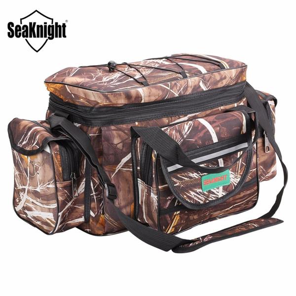 SeaKnight SK003 Borsa da pesca grande multifunzione Borsa da pesca sportiva da esterno Zaino 50cm * 27cm Camouflage Khaki Big Tackle # 28604