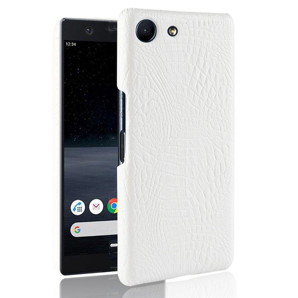 For Sony Xperia Luxury Retro Crocodile PU Leather Hard Back Cover For Sony Xperia Ace 5.0inch Phone Fitted Cases