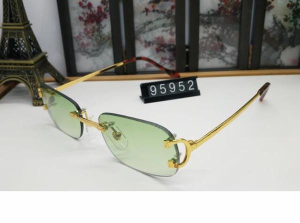 Mens occhiali da sole nuovo modo del progettista Occhiali da sole ovali lunette corno di bufalo Vetri Con Rosso Verde Giallo Blu Lens per le donne Buffalo Occhiali