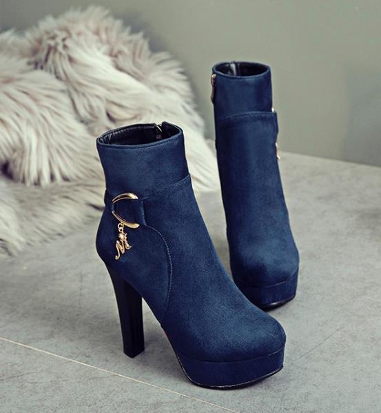 Pequeno tamanho 32 33 34 a 40 41 42 43 moda feminina botas de inverno espólio Burgundy azul com sapatos de grife caixa de marca internacional