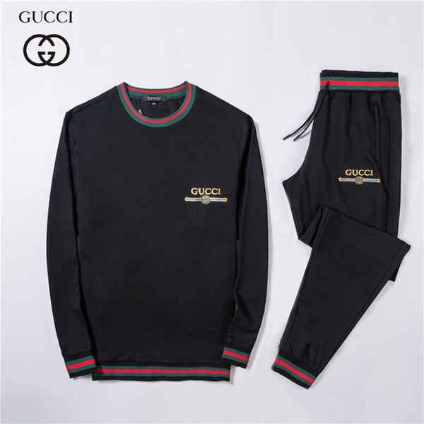fashion tracksuit New Pattern Motion Suit Male Leisure Time Two Piece Set Man Run Athletic Wear Sweater