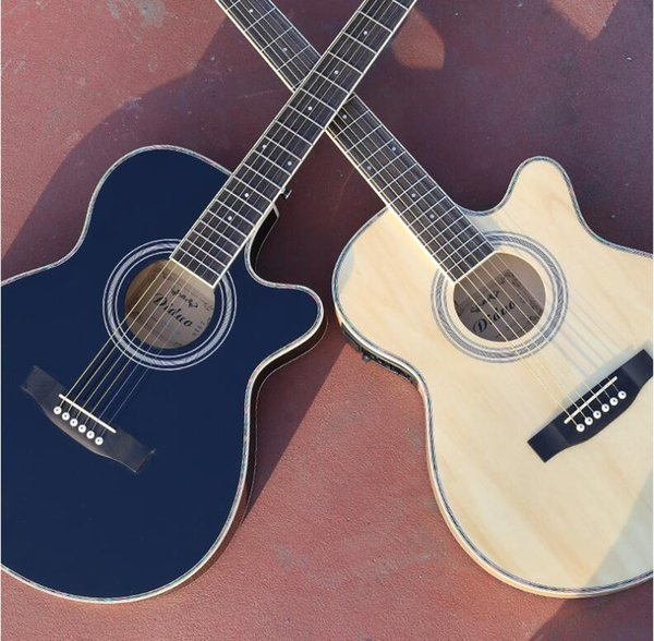 40-inch acoustic guitar, ultra-thin barrel, beginners, wooden guitar, boys and girls, practicing piano free shipping