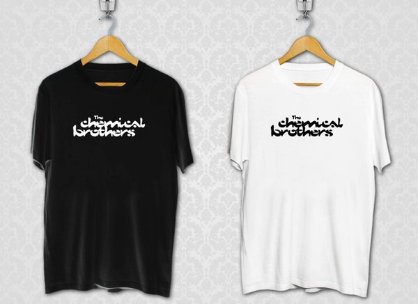 The Chemical Brothers Logo Band Black White TShirt Size S-3XL