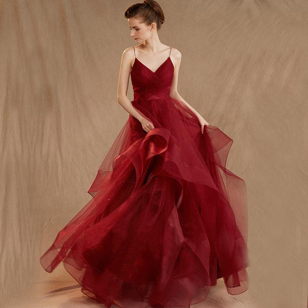 Red Wedding Garment 2019 New Star Bride Marriage Ball Gowns Same Mori Super Immortal Wedding Dress Modern