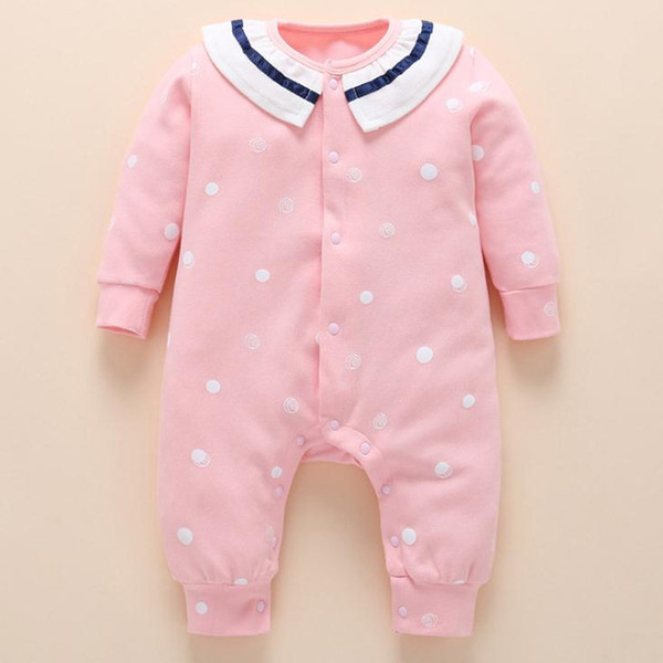 Baby Girl Onesie Tiny Cotton Baby Winter Jumpsuit Newborn Baby Girl Romper 6-18 Months Wholesale Free Shipping