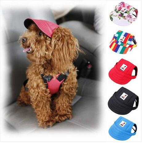 Free shipping Wholesales 2019 Pet Dog Hat Baseball Hat Summer Canvas Cap For Pet Dog Outdoor Accessories CAP Hat