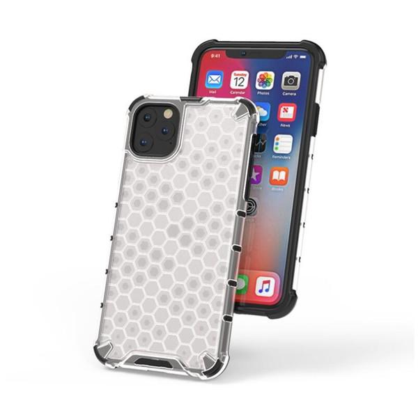 Estilo Honeycomb capa para iPhone 11 Pro Pele Max 2019 macio TPU + dura do PC à prova de choque da tampa do caso