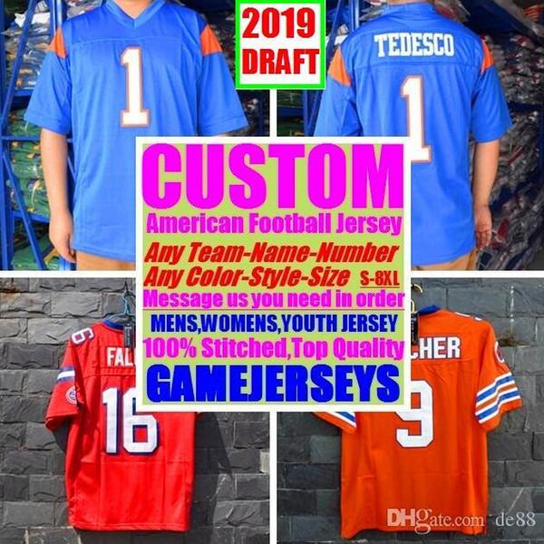 Camisas de futebol americano personalizado Tennessee Denver faculdade autêntica retro rugby futebol basquete hóquei de basquete jersey 4xl 6xl 8xl estilo