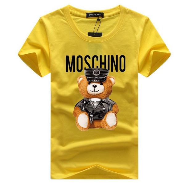 T-shirt à manches courtes en gros nouveau luxe cou autour du cou T-shirt de la marque de mode des hommes des femmes des hommes drôles imprimer cool T-shirt hip-hop top