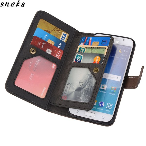 sFor LG G6 Case Luxury PU leather Multifunction Nine cards Wallet Flip Stent sFor LG G6 G5 G4 Cover Soft TPU Silicone phone bag