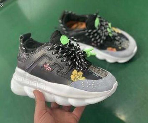 2019 Chain Reaction chaussures de créateurs de luxe hommes femmes baskets des neiges léopard noir blanc maille caoutchouc cuir mode femmes chaussures de sport 23