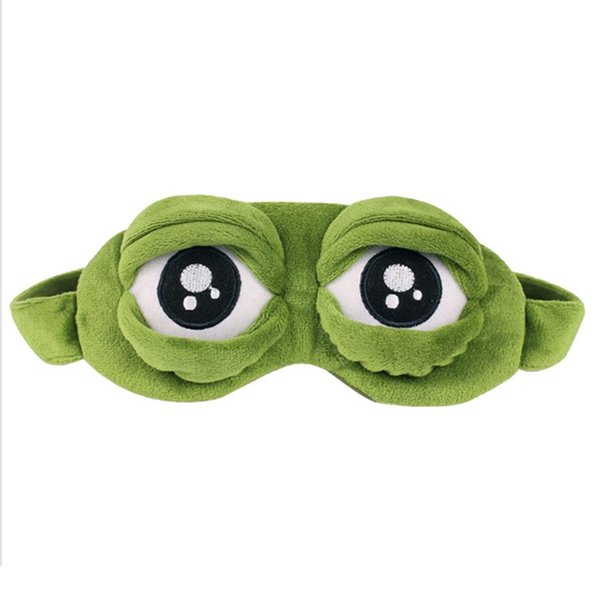 New Green Frog Cartoon Mignon Yeux de couverture Le masque triste Eye 3D Cover Sleeping Rest sommeil Anime drôle cadeau