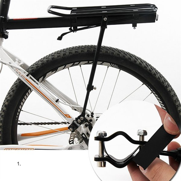 Bicycle Luggage Carrier Cargo Rear Rack Shelf Cycling Seatpost Bag Holder Stand for 20-29 inch bikes with Install Tools #233375