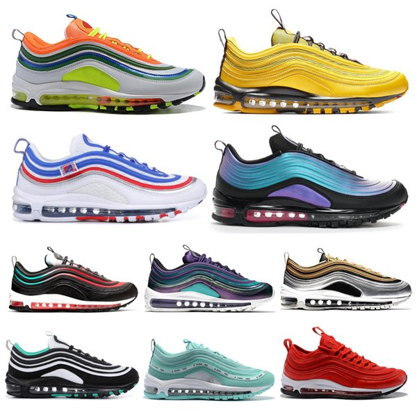 Nike Air Max 97 97s Shoes Nova moda homens running shoes neon seul retrocesso futuro london summer jayson tatum triplo preto das mulheres dos homens trainer sports sneakers 36-45