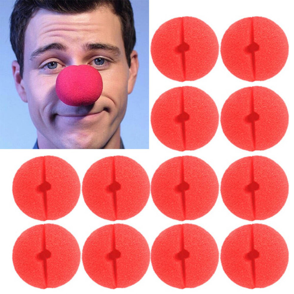 Behogar 50pcs/Set Fun Foam Clown Nose Circus Party Comic Christmas Halloween Costume Favor Supplies Decorations