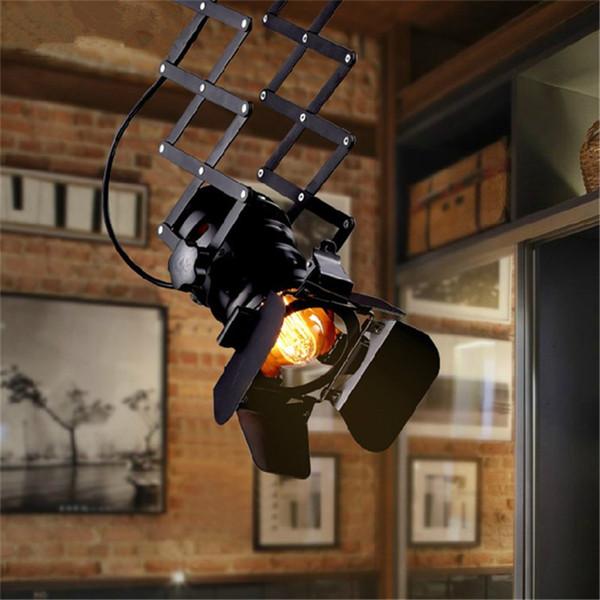 Retro Loft E27 Luz de Teto Luz de Levantamento Ajustável Sala Bar Pub Stage Cafe Cafe Lâmpada Loja de Pano Loja de Luz Dome