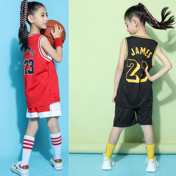 Los niños calientes Establecen Uniformes de Baloncesto Niños Y Niñas Deportes Niños Chaleco Activo Transpirable Trajes de Entrenamiento de Baloncesto Conjunto Personalizado Y190518