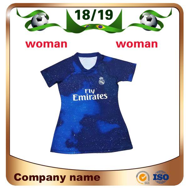 2019 Real Madrid Special Edition Fußballtrikot 18/19 Blauer Himmel MODRIC Mädchen-Fußball-Shirt SERGIO RAMOS ASENSIO ISCO EA Sportfußballuniform
