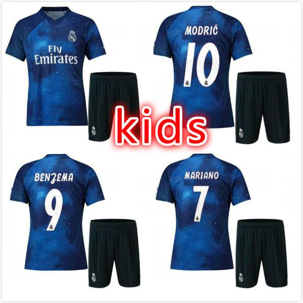 kids 2019 Real Madrid Limited Edition soccer Jersey Blue EA Sports Jerseys   12 MARCELO   e676d970a